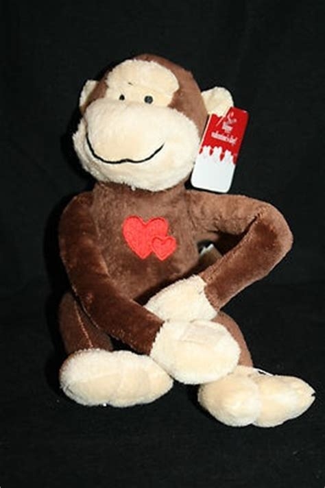 big stuffed monkey for valentines day pin by southern belles and beaus boutique on sold on ebay