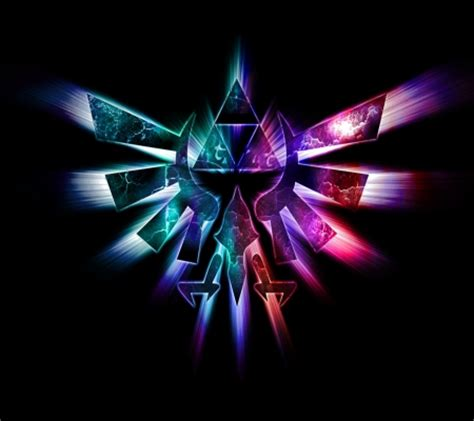 blue zelda wallpaper neon triforce zelda video games background wallpapers