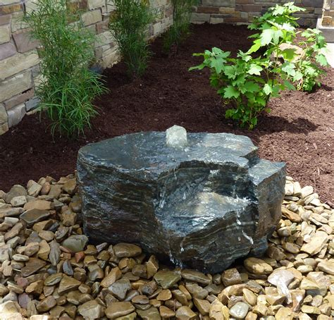 Boulder Bubbler By Land Escapes Inc Water Features Rock Garden With Water Feature