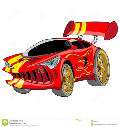 cartoon sports car black and white red sport car stock vector image of angry background