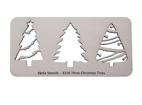 Christmas Tree Stencil - three christmas trees premium stencil glass delphi glass