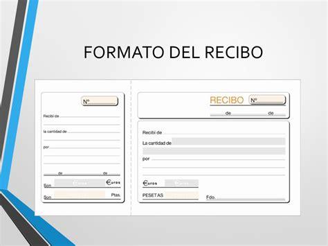 formato de recibo de dinero recibido documentos comerciales ppt video online descargar
