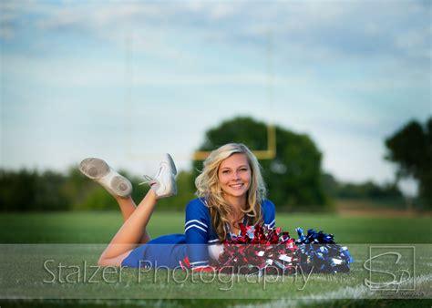senior girl cheerleader cheerleader stadium football senior pictures senior