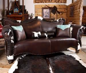 Cowhide Sectional Sofa Country Road Furniture 1900s World Western Sofa Atg Stores