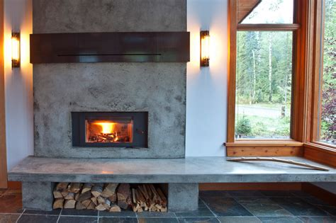 mountain modern home fireplace renovation