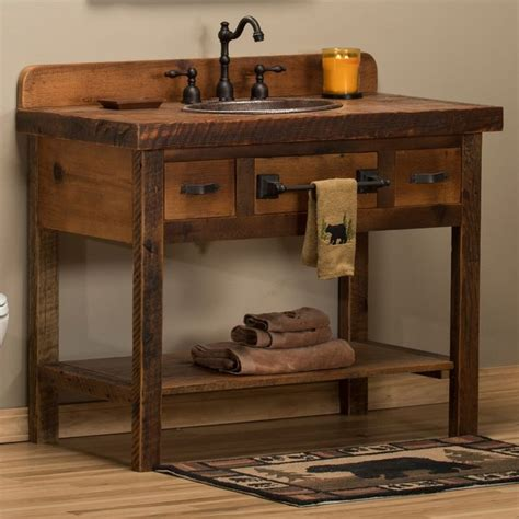 Rustic Bathroom Vanity Best 25 Rustic Bathroom Vanities Ideas On Pinterest Bathroom Vanity Designs Bathroom Vanity