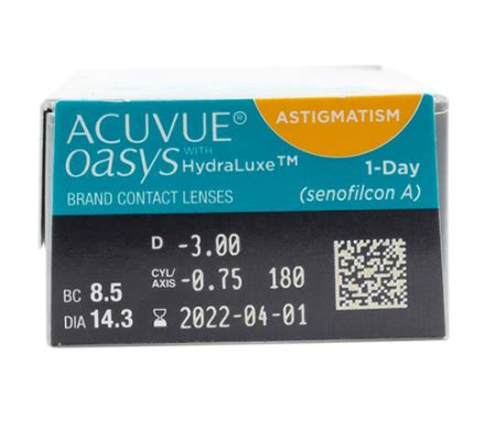 Acuvue Oasys For Astigmatism 400 by Contact Lenses 1 Day Acuvue Oasys For Astigmatism 90