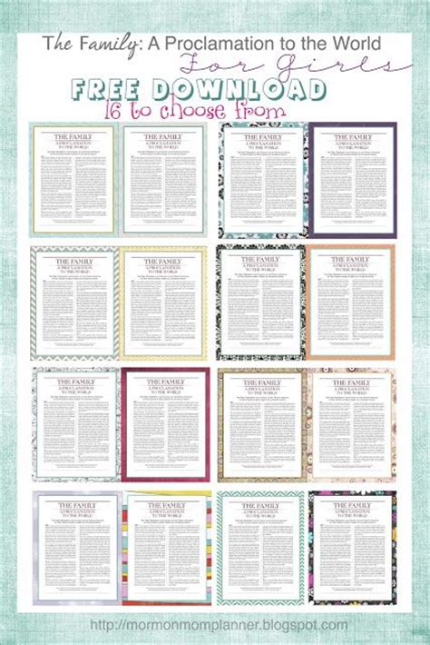 mormon mom planner printable lds planners for moms free proclamation downloads for