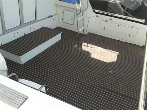 boat upholstery perth marinetuft teak suede cream prestige marine trimmers