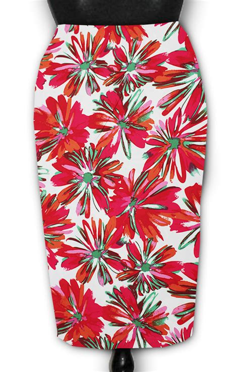 multi colors floral pencil skirt elizabeth s custom skirts
