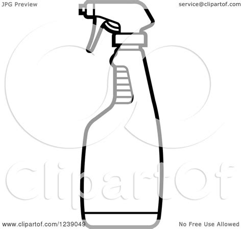 black and white chagne bottle clipart clipart of a black and white spray bottle royalty free