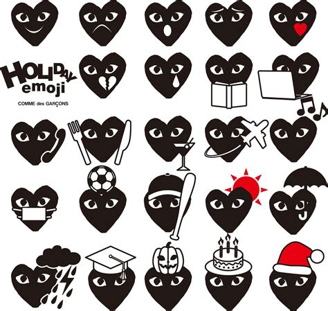 Comme Des Garcons Cdg Play White In Iphone Dan Semua Hp comme des gar 231 ons launches an adorable emoji app for iphone fashion magazine