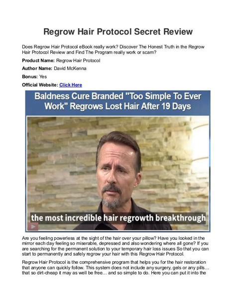 download hair loss protocol pdf regrow hair protocol david mckenna reviews book pdf free