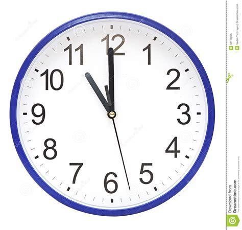 horloge murale bleue horloge murale bleue image libre de droits image 31110076