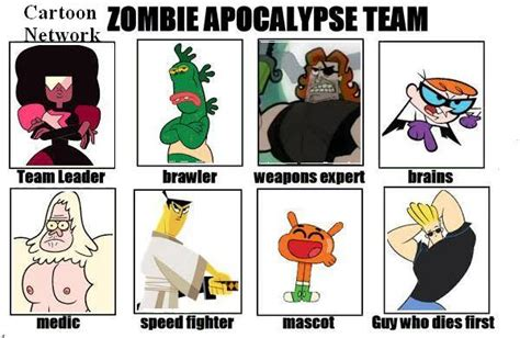 Cartoon Network Memes - cartoon network my zombie apocalypse team know your meme