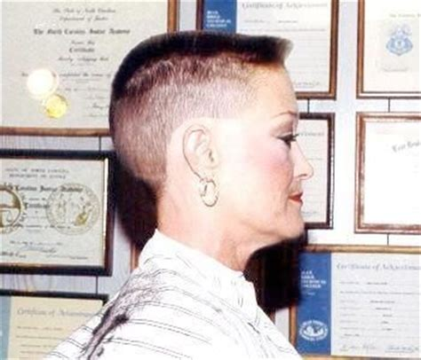 her flat top haircut older woman stripped down to her basics flat top haircut