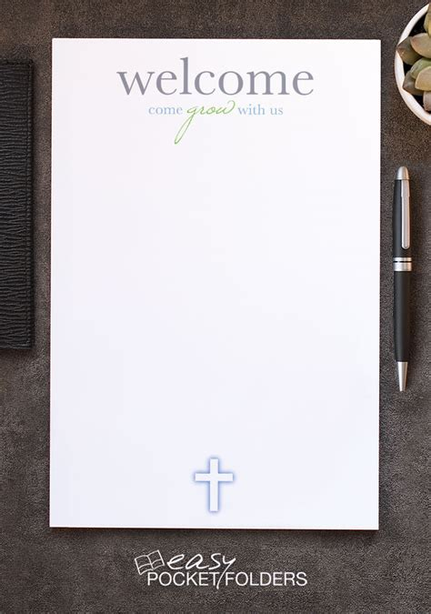 free church letterhead for visitor welcome folders easy