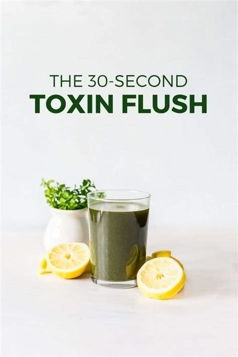 Detox Drinks Flush Toxins by The 30 Second Toxin Flush The Easiest Way To Detox Yuri
