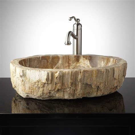 wood bathroom sink citra petrified wood vessel sink contemporary bathroom