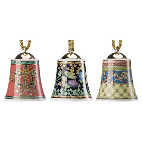 versace set of 3 christmas bell ornaments 2017