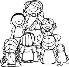 let the little children come to me free coloring pages