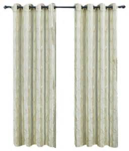 olivia embroidered lined curtain panel set of 2 ivory