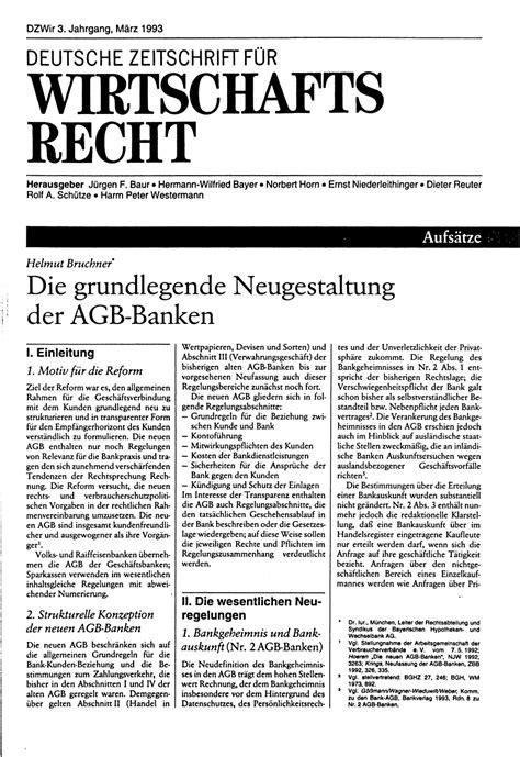 agb banken die grundlegende neugestaltung der agb banken deutsche