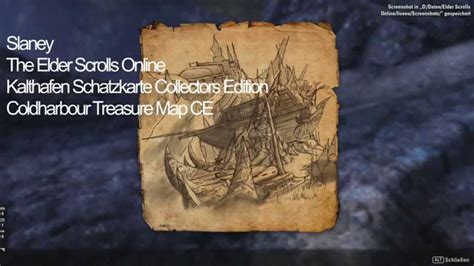 coldharbour ce treasure map elder scrolls kalthafen schatzkarte collectors edition coldharbour treasure map ce