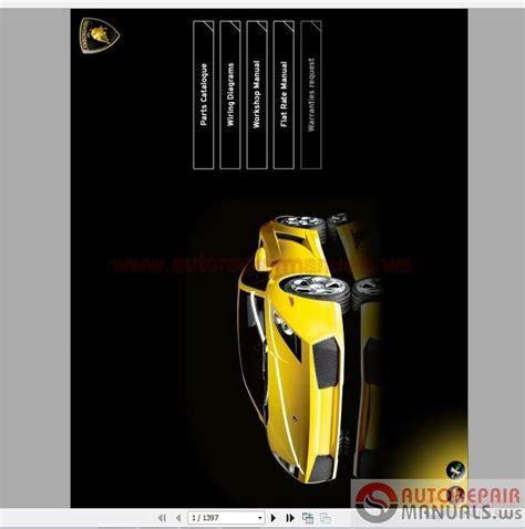 auto repair manual free download 2011 lamborghini gallardo transmission control service manual 2011 lamborghini gallardo workshop manual free downloads lamborghini diablo