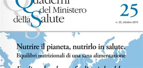 ministero salute alimentazione ministero della salute quaderno sulla sana alimentazione