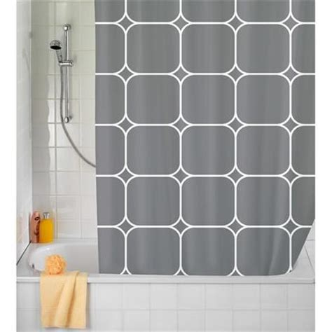 anti mold shower curtain wenko cube grey anti mold polyester shower curtain