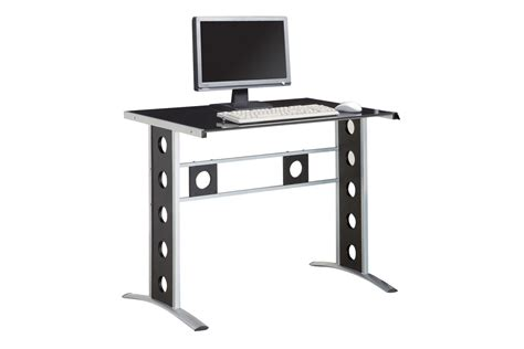 Black And Silver Computer Desk with Black And Silver Computer Desk 800228