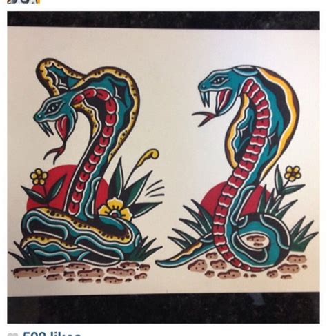 tattoo flash of snakes traditional tattoos flash art snakes tattoo by