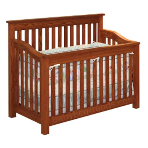 Amish Baby Cribs by 4 In 1 Cribs Made In Usa Solid Wood Amish Baby Cribs