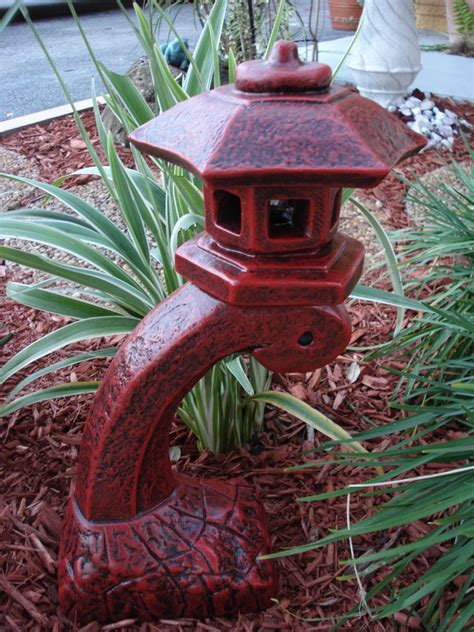 Japanese Yard Decor by Pagoda Concrete Lantern Statue Garden