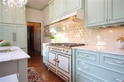 Mint Green Kitchen Cabinets by Mint Green Cabinets Transitional Kitchen Garrison