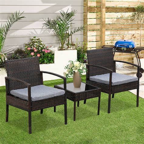 oshion  piece patio furniture set wicker rattan outdoor