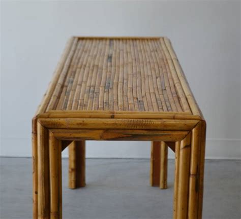 Bamboo Table by Bamboo Console Table At 1stdibs