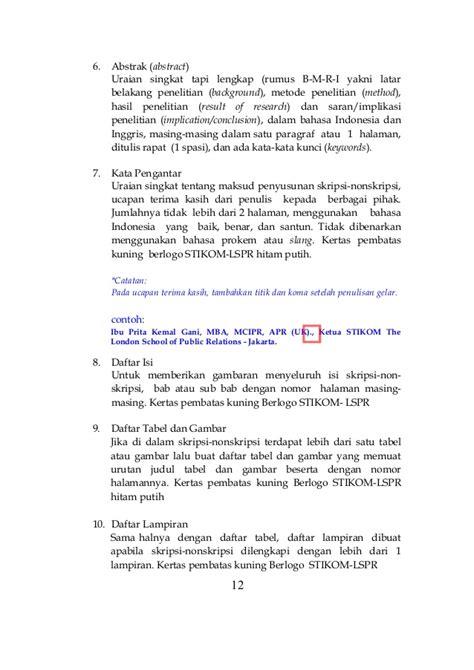 buku panduan skripsi nonskripsi 2013 contoh abstrak thesis contoh two