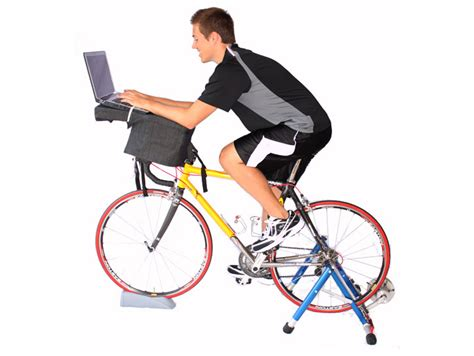 Fitdesk Lets You Pedal Your Way To Fitness While You Work Exercise Bike Computer Desk