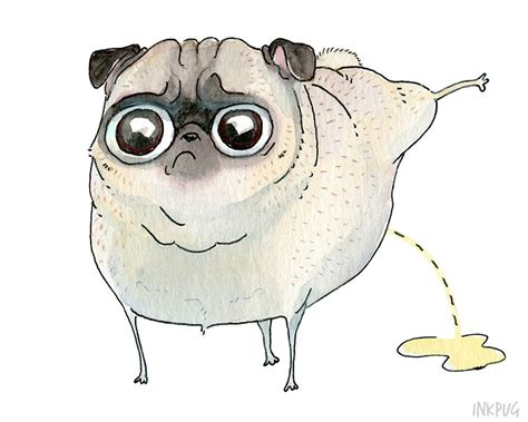 drawings of pugs pilates pug print 5x7 8x10 pug by inkpug