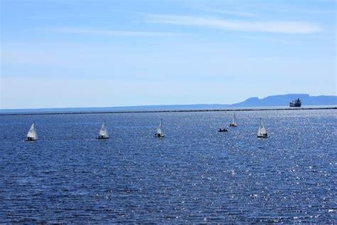 sailboats ontario sailboats on the lake in thunder bay ontario canada free