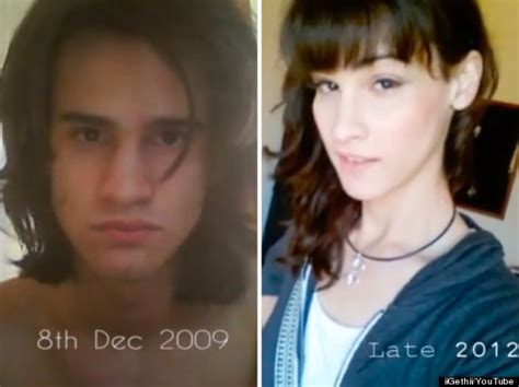 transgender before and after timelapse shows transgender s three year transformation
