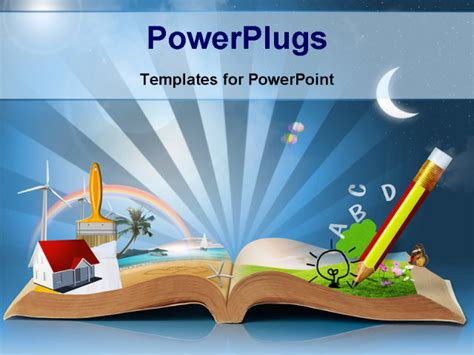 Best Powerpoint Template Magical World Of Reading Magic Book Background About Education Children S Book Powerpoint Template