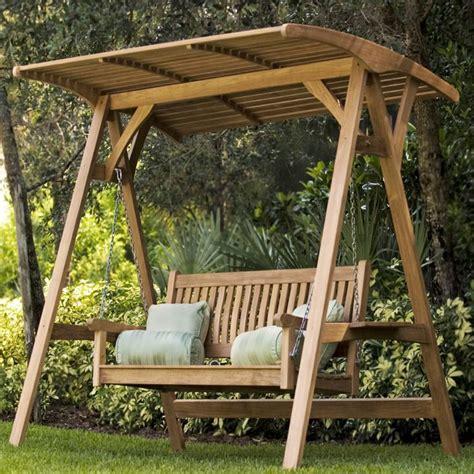 marvelous garden swing bench  wooden swings  canopy