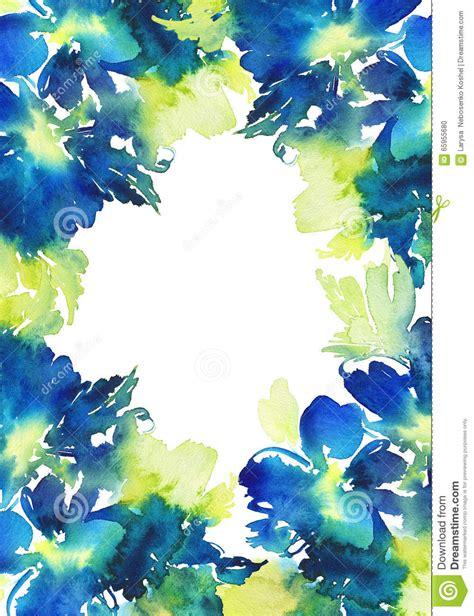 auguri con i fiori cartolina d auguri con i fiori illustrazione di stock