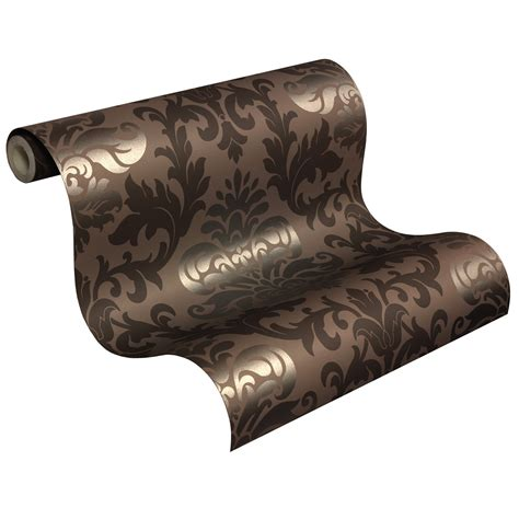 Tapete Kolonialstil by Tapete Barock Ornamente Rasch Lounge Glanz Braun 156645