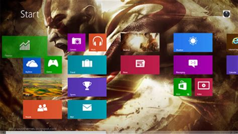 win8 themes video games theme game god of war for windows 8 and windows 7 free