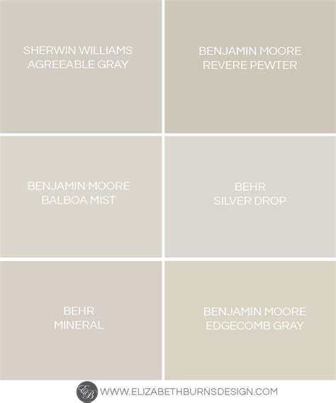 The Perfect Shades of Greige   Paint Colors ? Elizabeth Burns Design, Raleigh NC Interior Designer