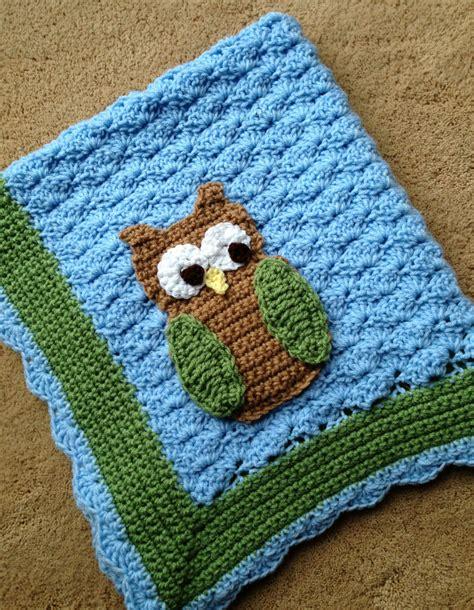 crochet pattern owl baby blanket little hoot the owl crochet baby blanket pattern